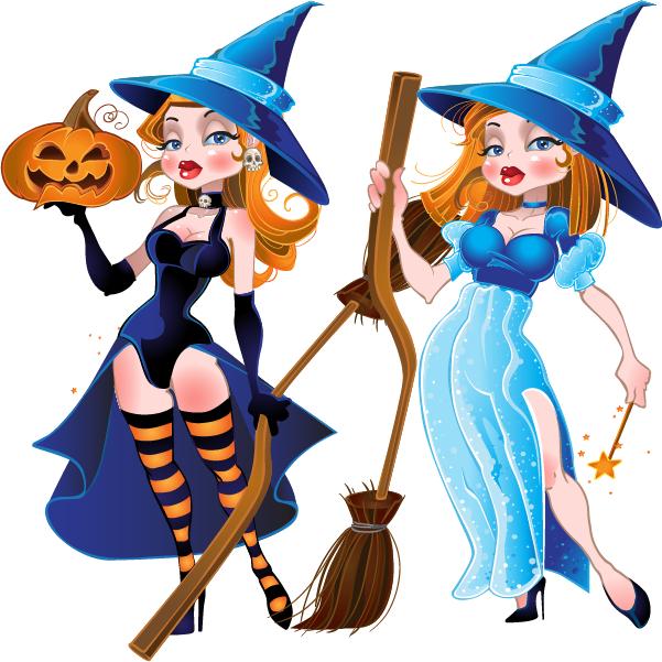 brujas de Halloween - vector