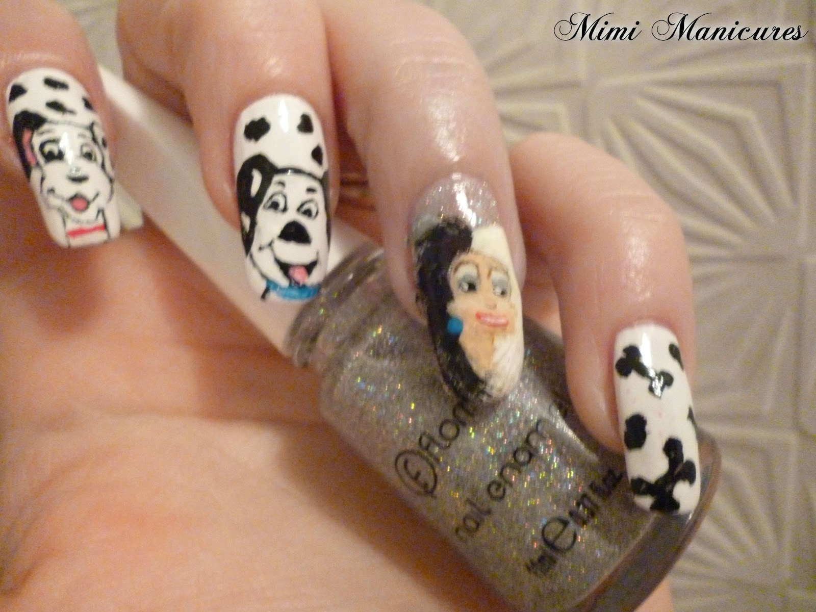 my adventures in nail polish: Disney 101 Dalmatian Nail Art
