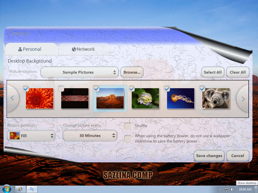 Cara Pasang Wallpaper Dengan Desktop Background Windows 7 Starter