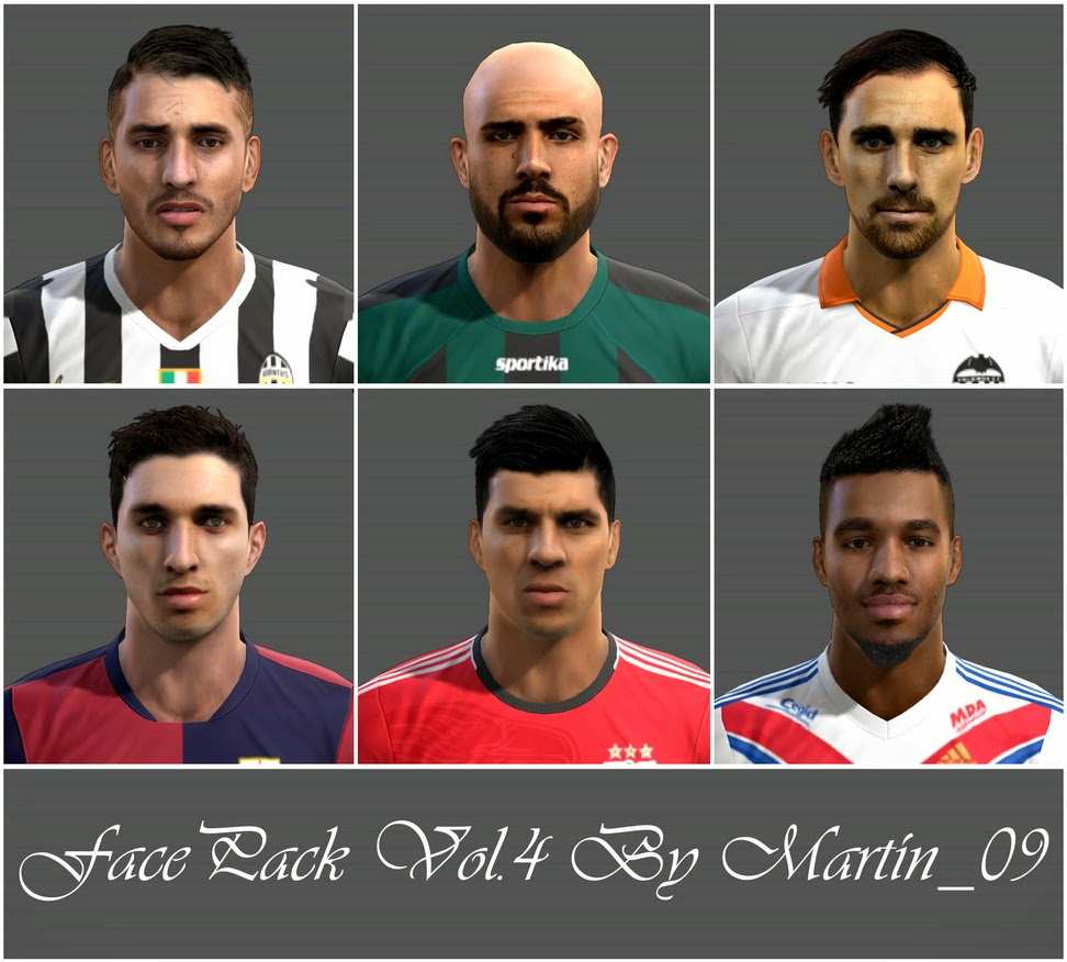 Ultigamerz Pes 2010 Pes 2011 Face: PES-MODIF: PES 2013 Facepack Vol.4 By Martin_09