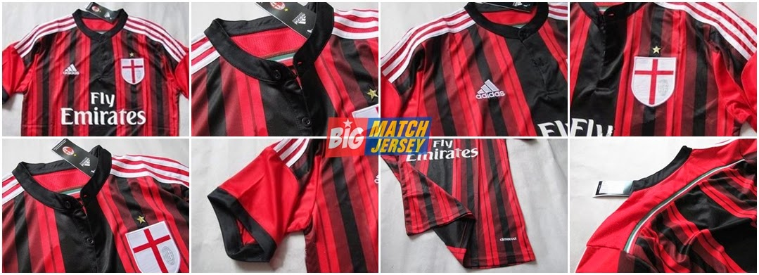 Detail Jersey GO Ac Milan Home New Official 2015