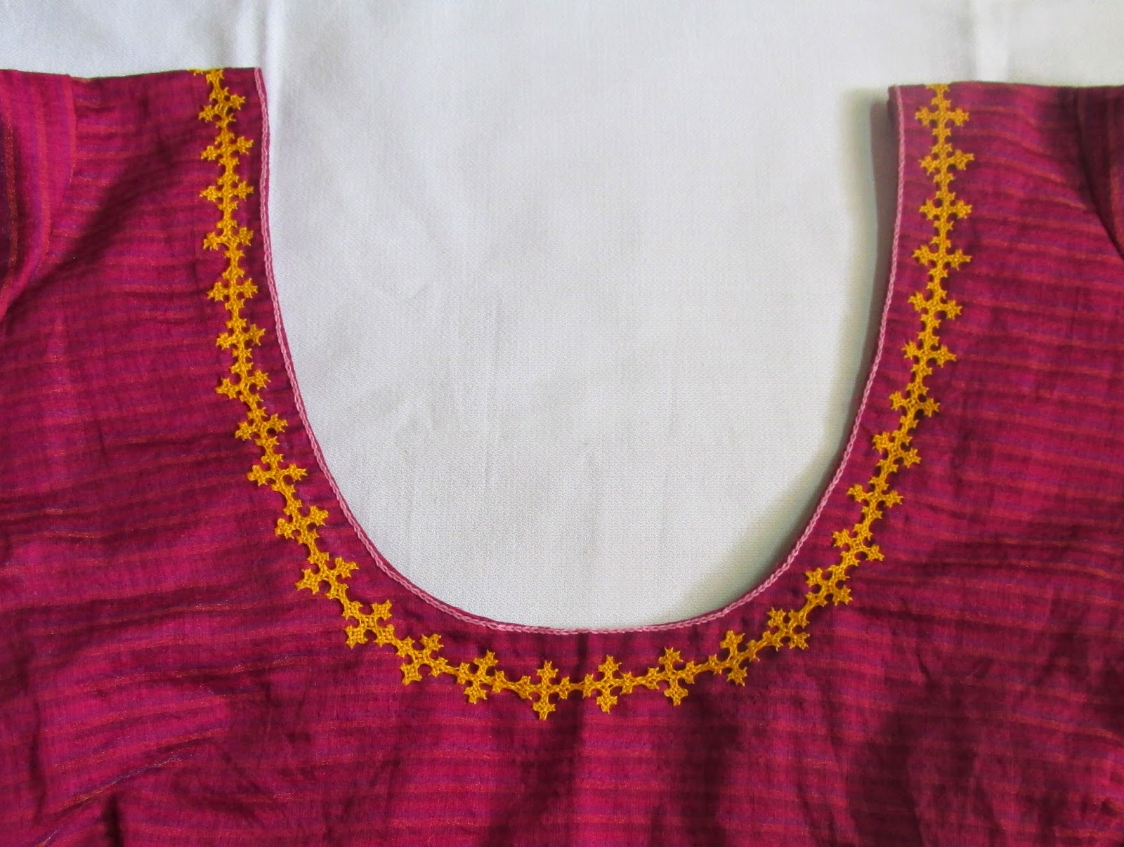 My craft works kutch work blouse neck