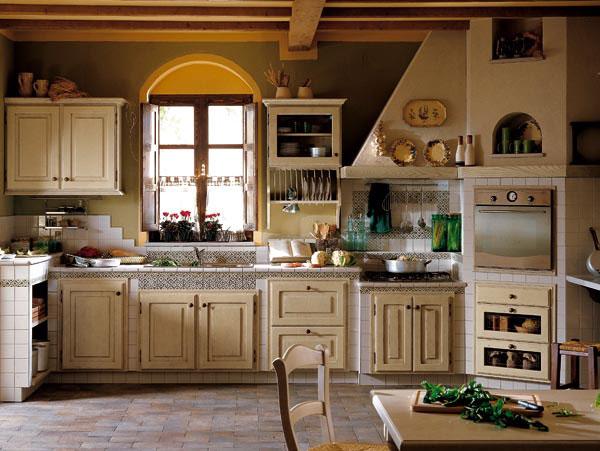 Imbiancare casa idee idee per imbiancare le pareti di una cucina country o di una taverna rustica - Dipingere una cucina ...