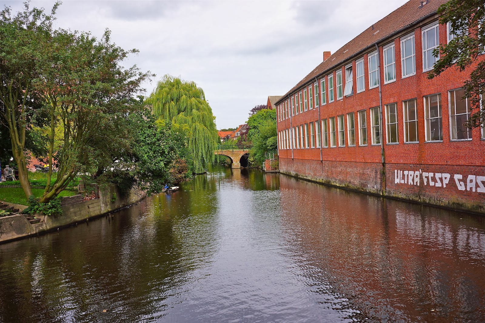 Picture of a canal in Emden, Germany.