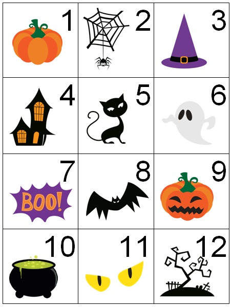 Calendar Cards Printables : Counting coconuts calendar cards halloween