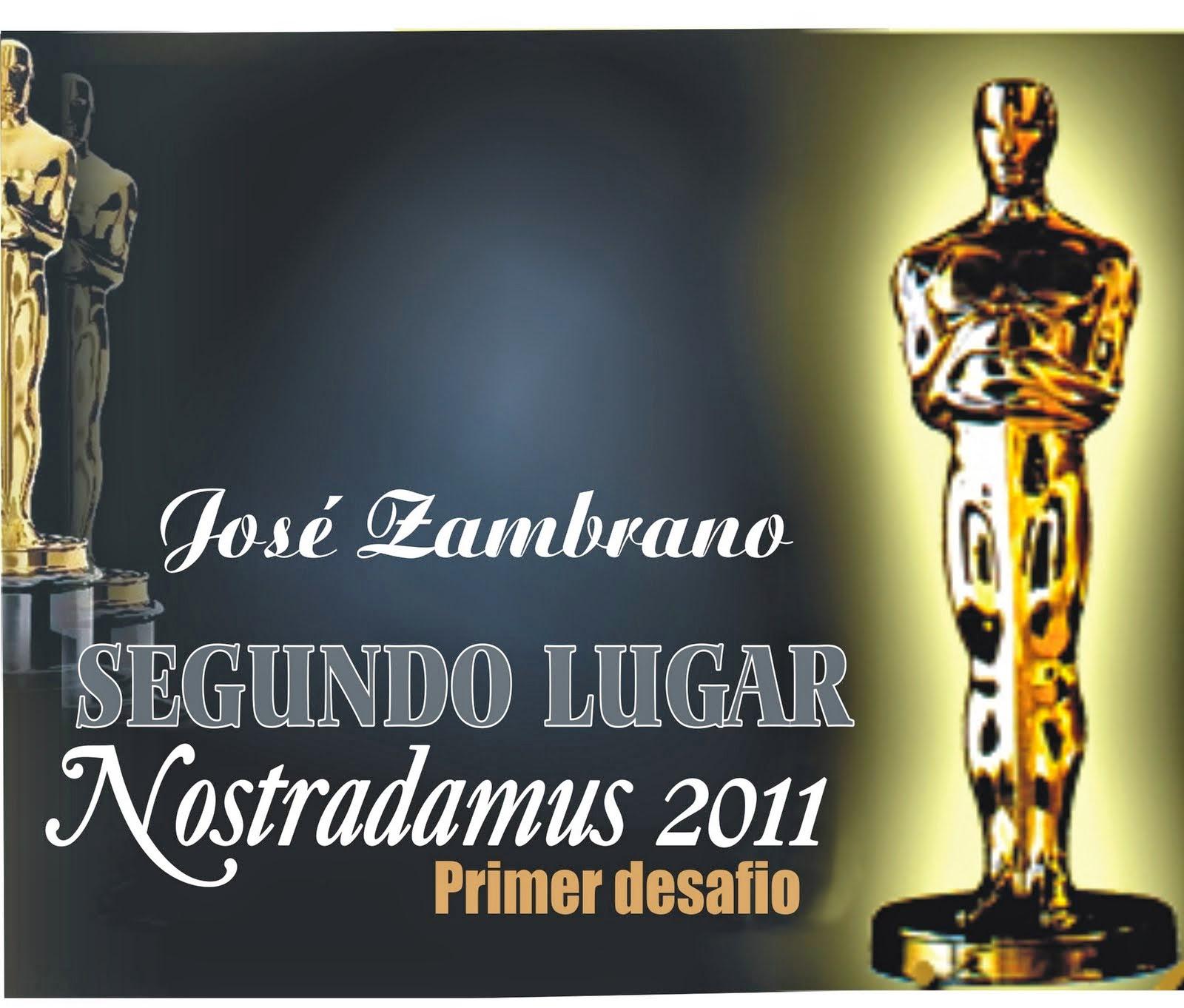 Segundo Lugar: Nostradamus Oscar 2011 (Primer desafio)