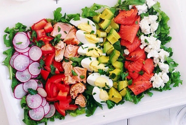 Salmon Cobb Salad Recipe