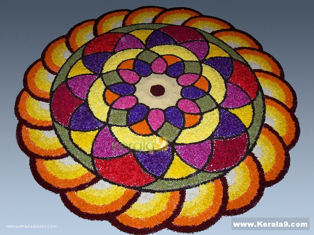 Rangoli Designs For Competition With Concepts Onam pookalam designs