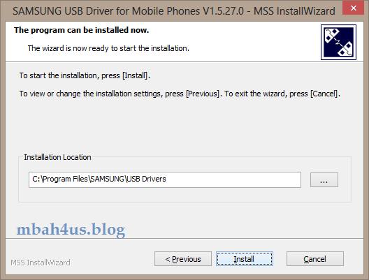 Install driver samsung USB