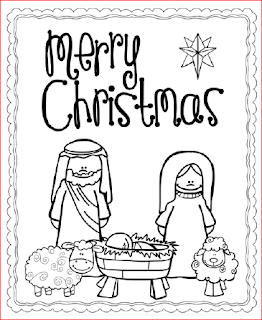 Nativity Christmas Cards - black and white