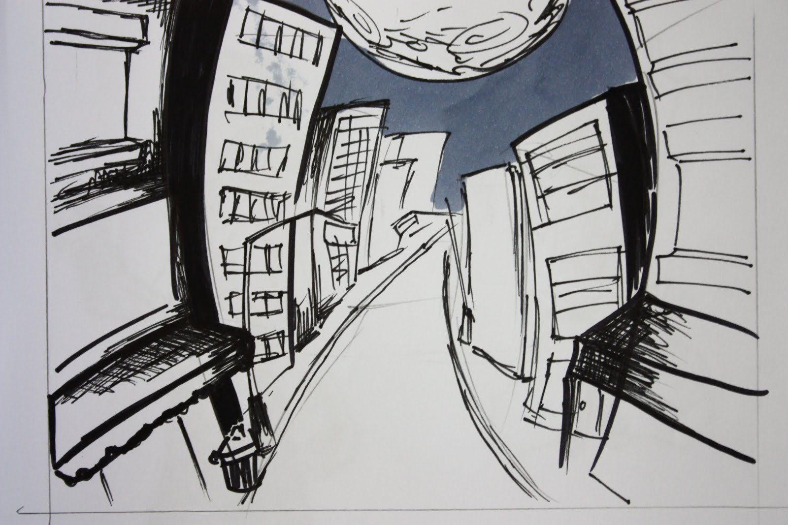Pencil Brush  for Night Street Drawing  157uhy