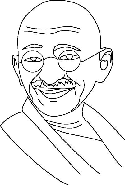 gandhiji standing coloring pages - photo#16