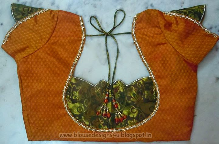 Patch Work Blouse Neck Designs 17