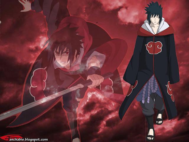 Sasuke wielding his Sword of Kusanagi