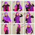 Two Colors Hijab Tutorial Style