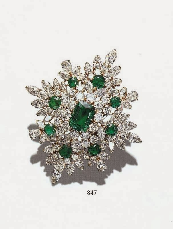 Emerald Brooch Fabulous