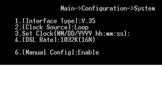 Cấu hình giao diện V.35, đồng bộ và tốc độ DSL