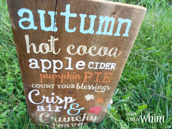 Reclaimed Wood Autumn Pallet Sign from Denise on a Whim