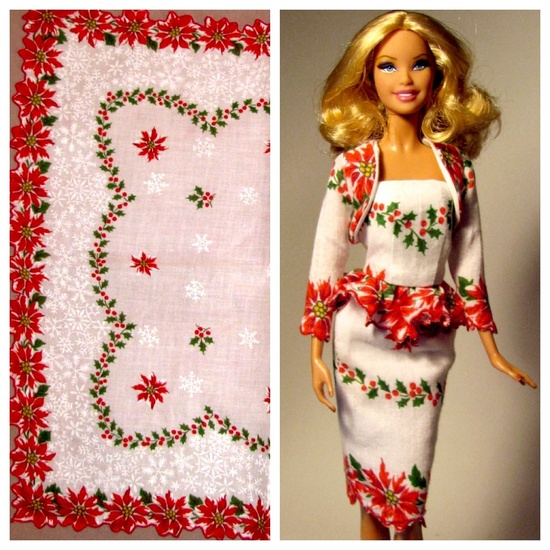 The Poinsettia Dress One Of My Barbies Now Wears