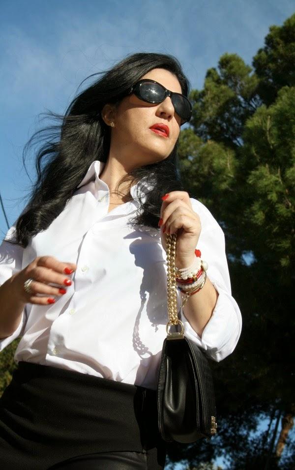 blanco y negro falda y camisa Prim Secret