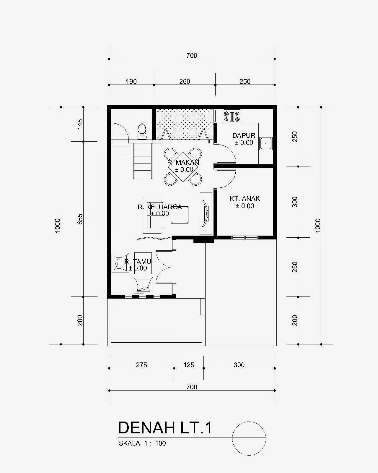 Desain Rumah Minimalis 10 X 16