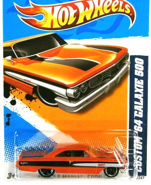 JUAL MAINAN MOBIL HOT WHEELS CUSTOM '64 GALAXIE 500 - ORANGE BLACK ...