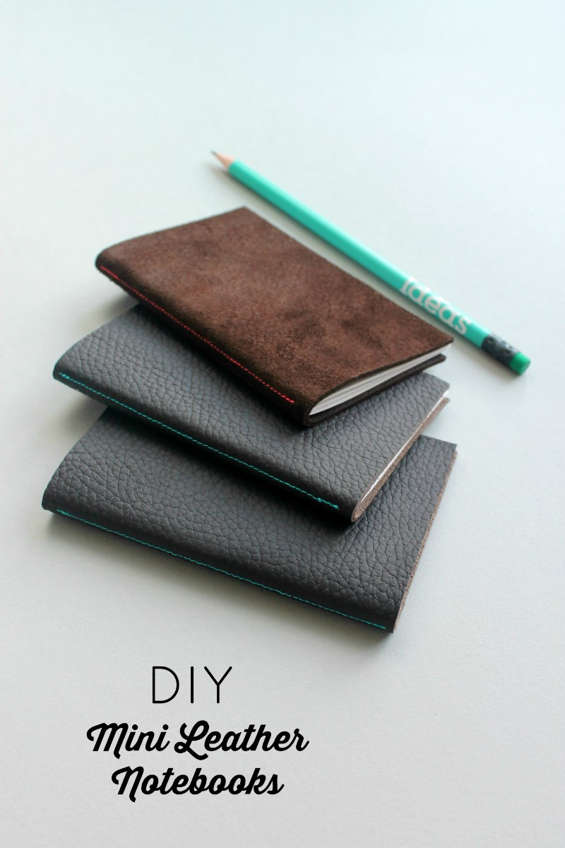 Mini Leather Notebook DIY