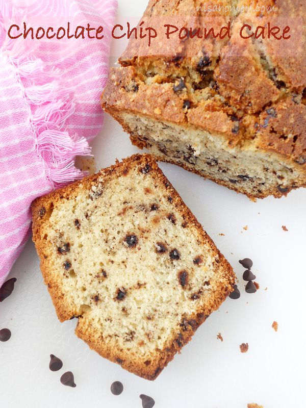 flavored chocolate chip pound cake is a dense and wonderful cake ...