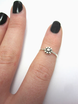 Wired Jewellery above knuckle ring
