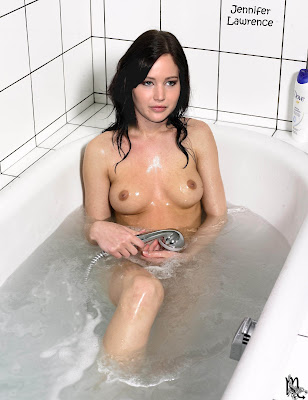 677387785 JenniferLawrence44 123 545lo Jennifer Lawrence Nude Showing her Boobs in Bathroom Fake