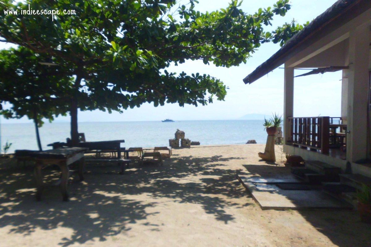 Afternoon scene in CAPOceansPeninsula resort Calatagan Beach