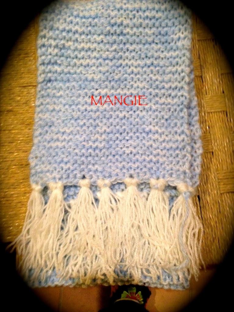 Bufanda de lana solidaria