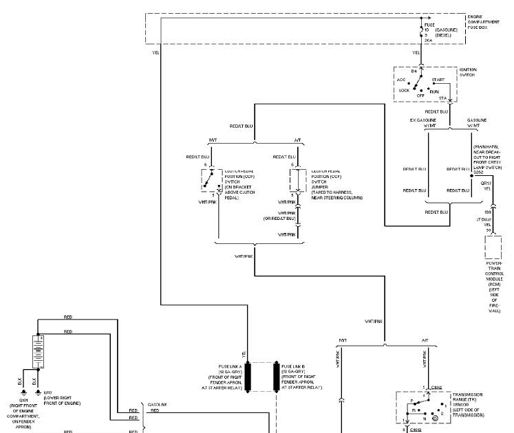 1997 Ford Pickup F250 Light Duty System Wiring Diagram