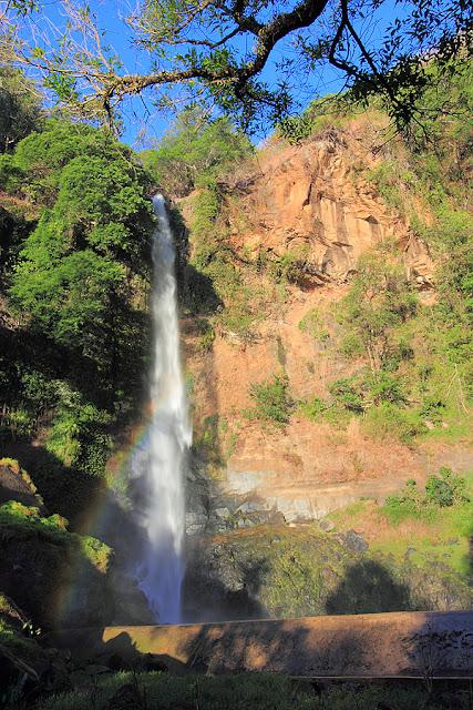 Rainbow over the Ogi waterfall