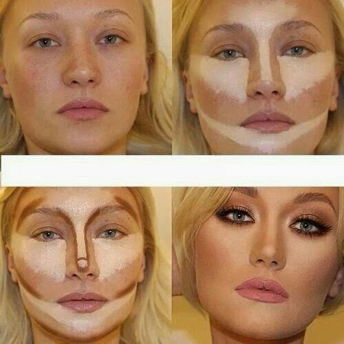 Как сделать при помощи макияжа лицо более худым