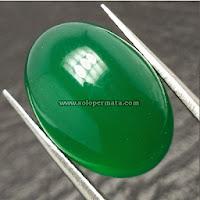 Batu Permata Green Chalcedony