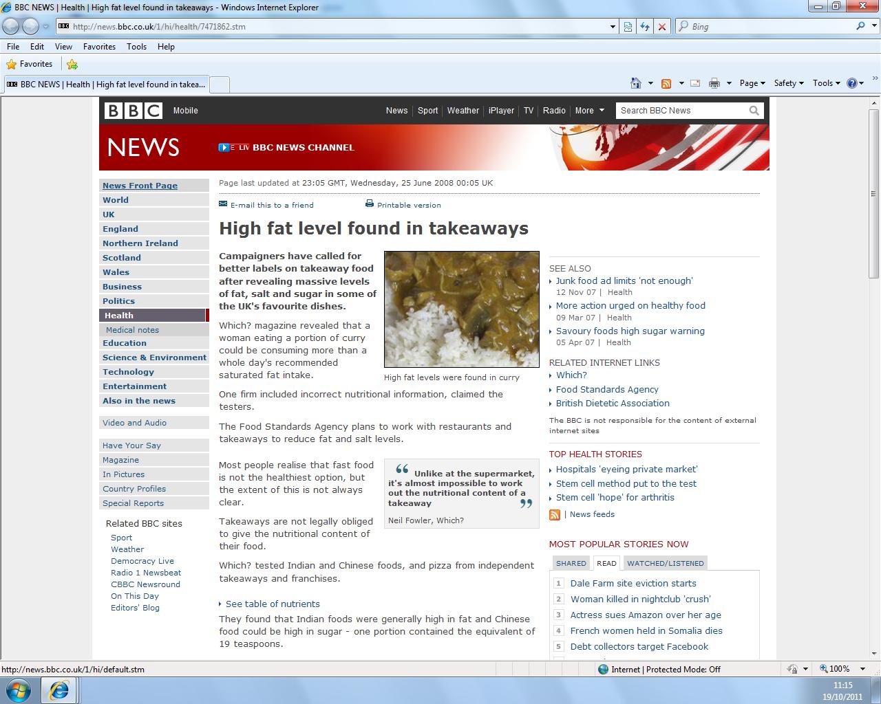 bbc website analysis Dauchet l, amouyel p, hercberg s, dallongeville j fruit and vegetable  consumption and risk of coronary heart disease: a meta-analysis of cohort  studies.