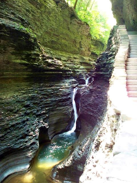 narrow waterfall