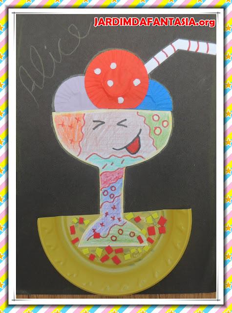 Artes Manuais Atividade Parlenda Um Sorvete Colorê