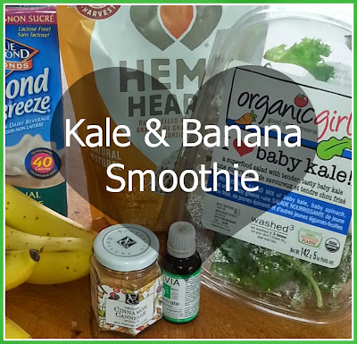 kale banana health smoothie