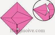 Bước 9: Làm tương tự với lớp giấy bên trái.