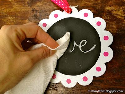 DIY chalkboard valentines.  How to make single chalkboard valentines.