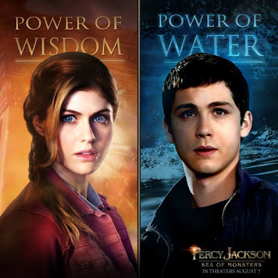 Percy Jackson: Sea of Monsters Alexandra Daddario Logan Lerman poster