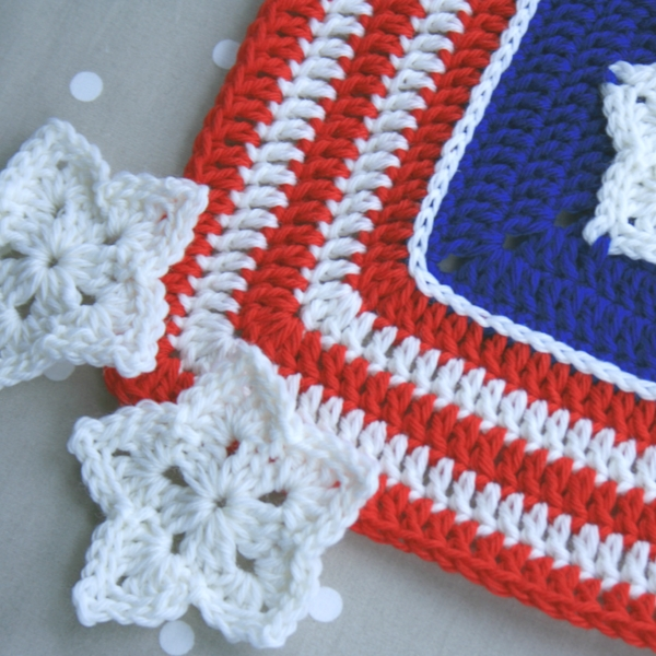 Crochet Patterns Block Afghan : WoolnHook: American Star Afghan Block crochet pattern update