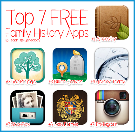 top 7 free family history apps for ipad iphone blackberry or
