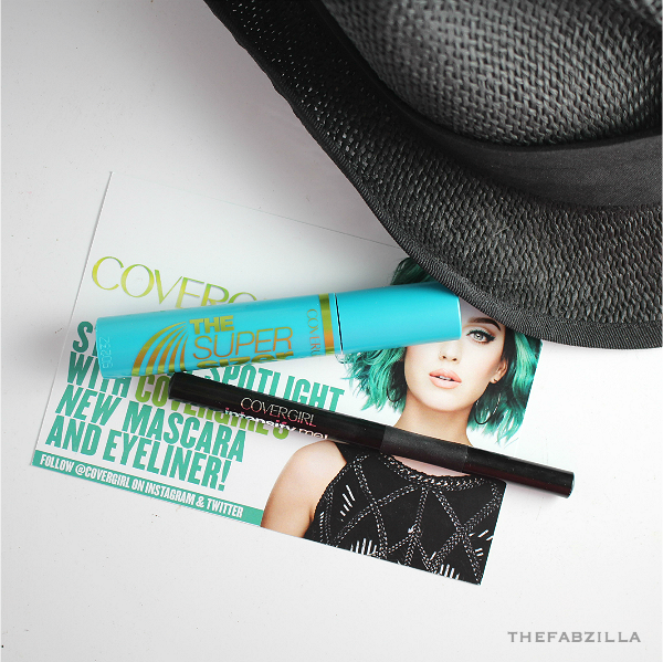 covergirl intensify me by lashblast liquid liner, covergirl super sizer mascara, review, how to apply mascara