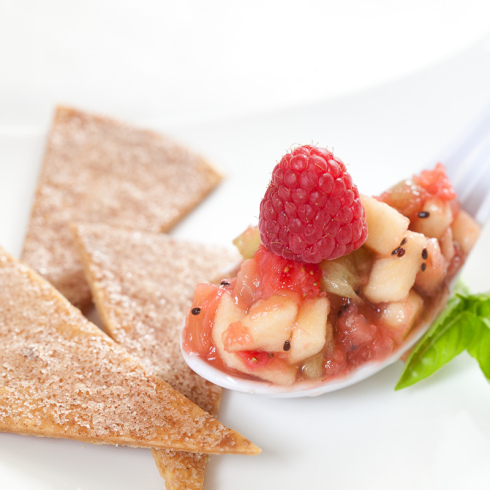 My Favorite Things: Fresh Fruit Salsa and Cinnamon Sugar Chips from ...