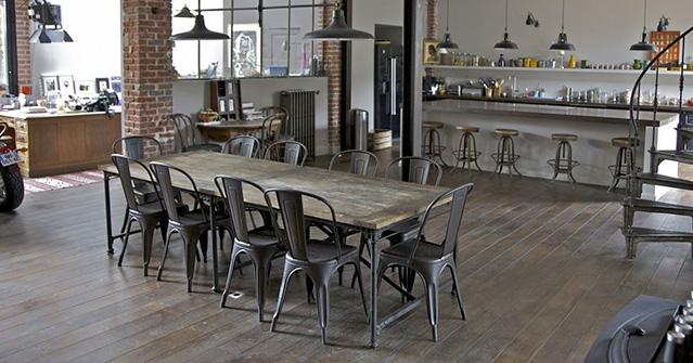 Granato v new sun srl for Sedie industrial style