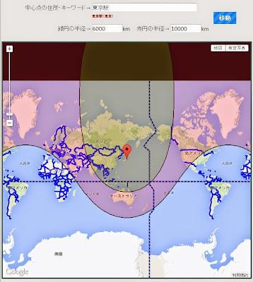 地図 距離 半径 円 計測