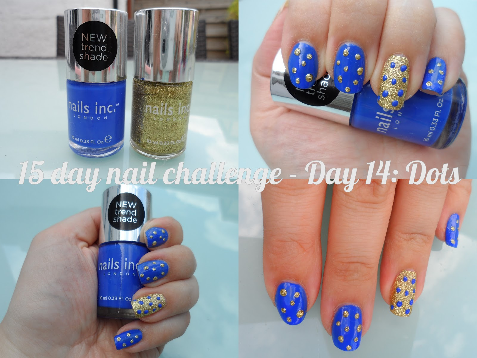 Makeup Savvy 15 day nail challenge - Day 14 - Dots | flutter and sparkle
